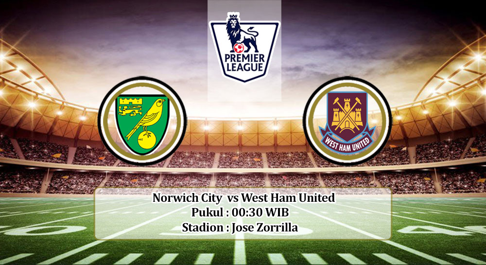 Prediksi Norwich City vs West Ham United 11 Juli 2020