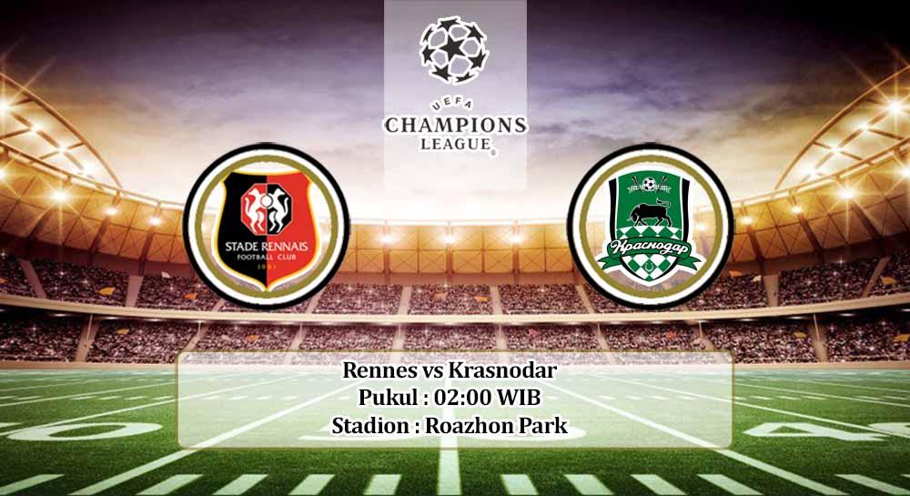 Prediksi Rennes vs Krasnodar 21 Oktober 2020